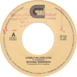 Michael Robinson - Lonely in love / NL