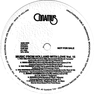 Music from Holland with love - Vol. 15 / NL
