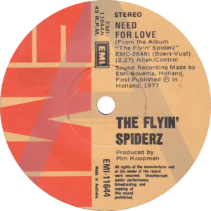 The flyin' spiderz - Need for love / Australia