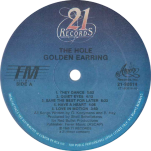 Golden earring - The hole / Canada