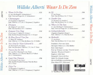 Willeke Alberti - Waar is de zon / NL