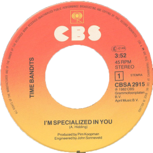 Time bandits - I'm specialized in you / NL