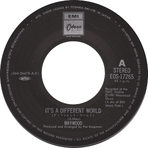 Maywood - It's a different world / Japan