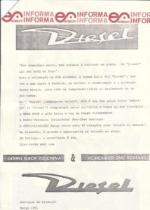 Promosheet 2 Diesel - Goin' back to China / Portugal