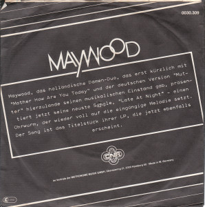Maywood - Late at night / Germany 2
