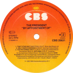 The President - By appointment of / NL Promo