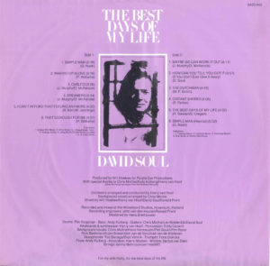 David Soul - The best days of my life / NL