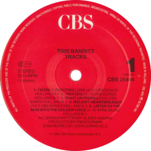 Time bandits - Tracks (red label)