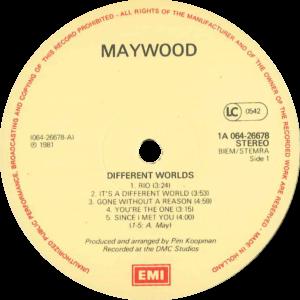 Maywood - Different worlds / NL klein label verschil