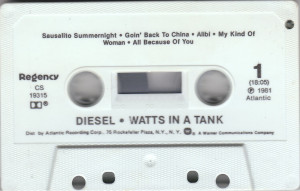 Diesel - Watts in a tank / U.S.A cassette