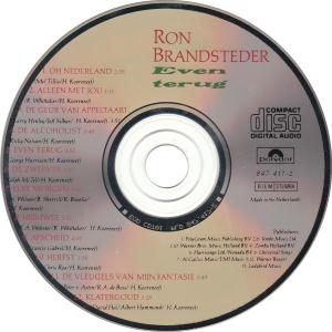 Ron Brandsteder - Even terug / NL