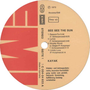 Kayak - See see the sun / Germany