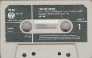 Kayak - The last encore / Cassette NL
