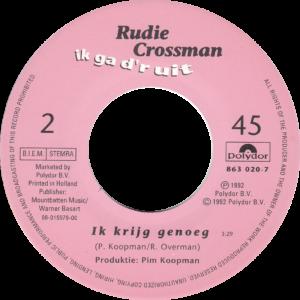 Rudie Crossman - Ik ga d'r uit / NL