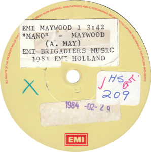 Maywood - Mano (Single sided promo) South-Africa