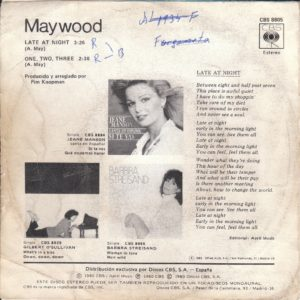 Maywood - Late at night / Spain