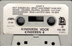 Kinderen Voor Kinderen - Deel 4 / NL cassette
