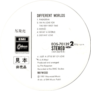 Maywood - Different worlds / Japan II White label promo
