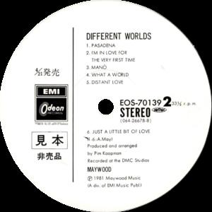 Maywood - Different worlds / Japan II White label promo