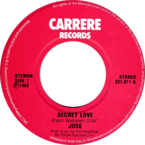 José - Secret love / NL Label variety