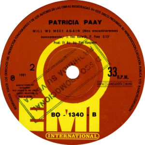 Patricia Paay - Who let the heartache in / Bolivia