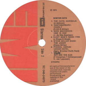 Winter hits (full color sleeve) / NL
