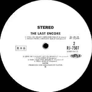Kayak - The last encore / Japan white label