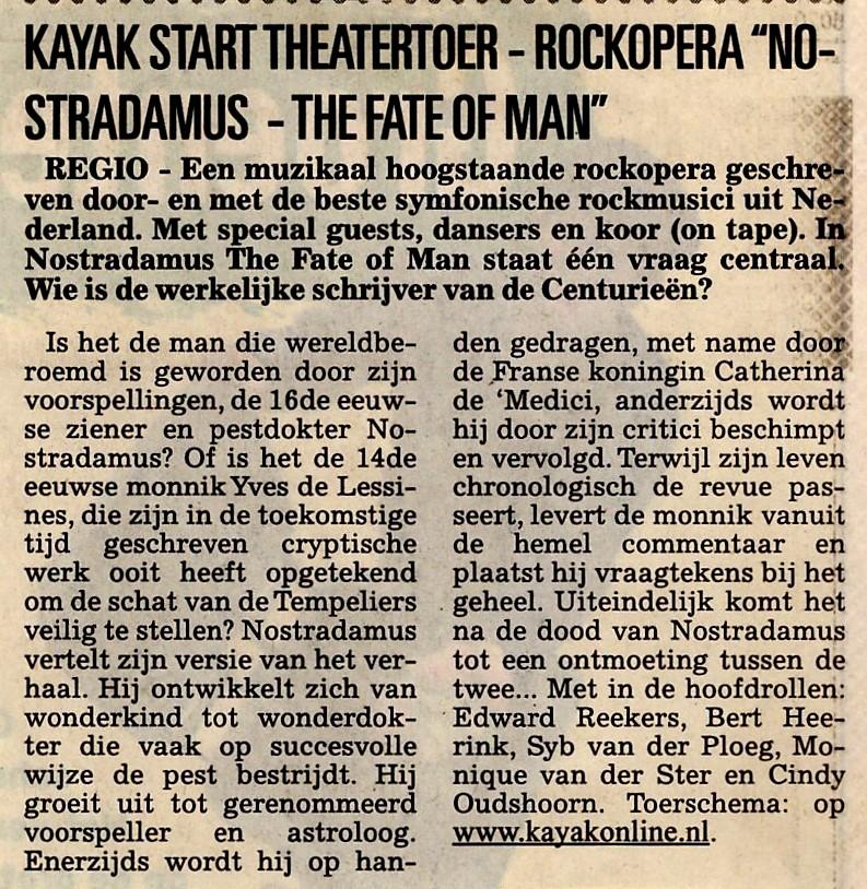 Kayak Nostradamus Gooi en Eembode 2005