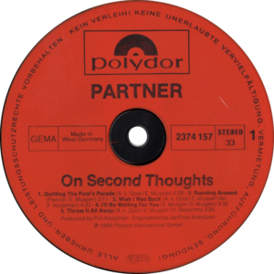 Partner - On second thoughts / Germany