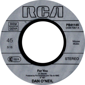 Dan O'Neil - For you / Belgium