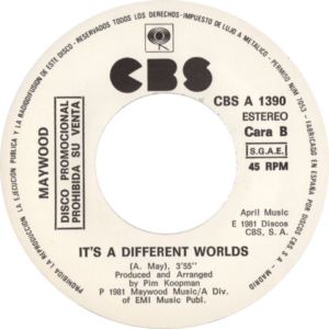 Maywood - It's a different worlds / Spanje 2 (White label promo)