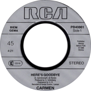 Carmen - Here's goodbye / NL