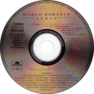 Marco Borsato - Sento / NL cd