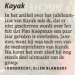 Kayak Gooi en Eemlander naar aanleiding van stuk 23-02 2012
